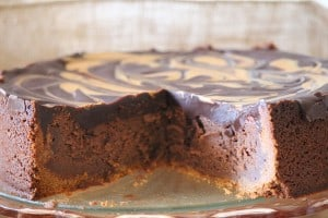 Decadent Chocolate and Nutterbutter Peanutbutter Swirl Chocolate Cheesecake