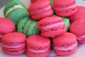 Hawaiian French Macarons with Guava Buttercream Filling