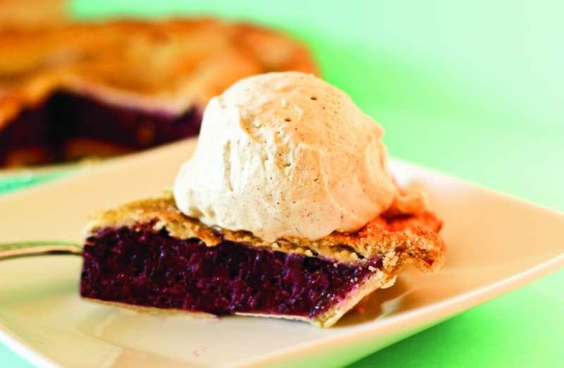 Lemoncello Berry Pie A La Mode