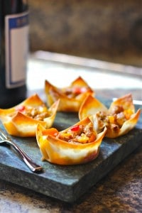 Sausage Won Ton Cup Appetizers