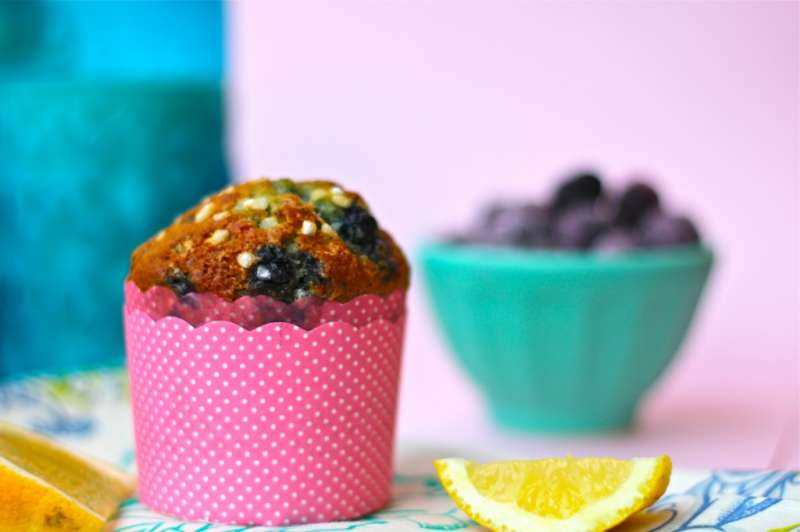 Mother's Day Lemon-Bluberry Ricotta Muffins