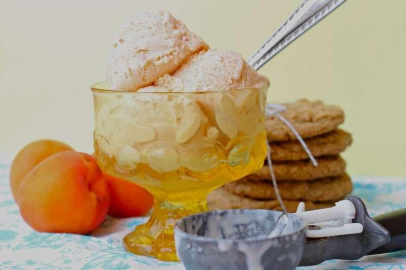 Summer's Bounty- Apricot Ice Cream!