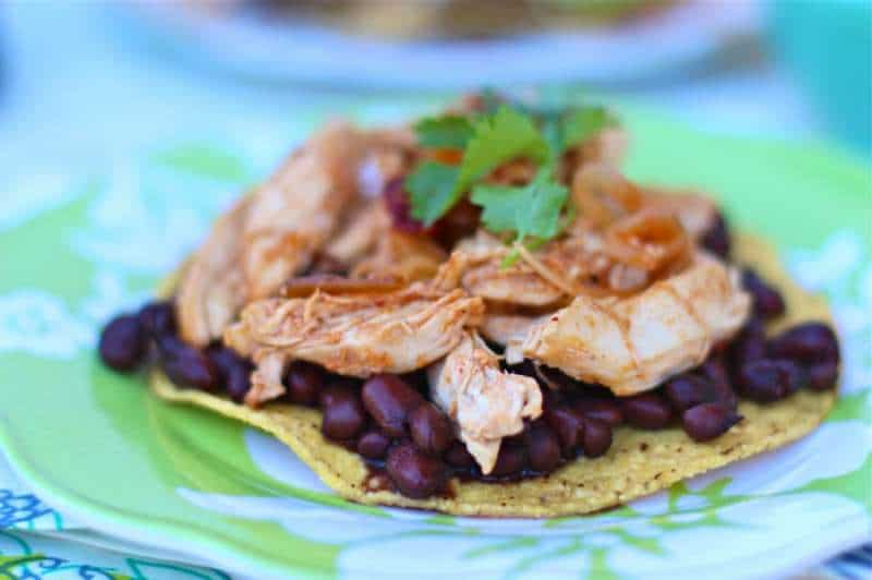 Spicy Chipotle Chicken On A Tostada