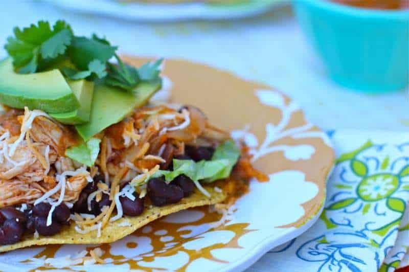 Chicken Chipotle Tostadas With Avacado
