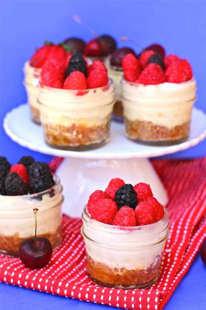 Mini CrockPot Cheesecakes