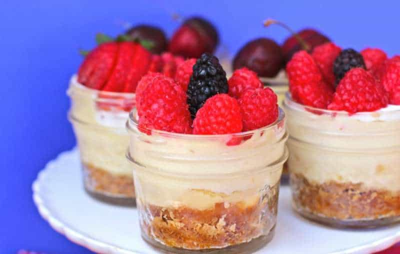 Fluffy CrockPot Cheesecakes With Fresh Fruit
