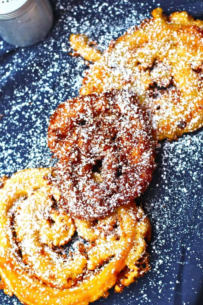 Carnival Funnel Cake Sprinkled With Powdered Sugar
