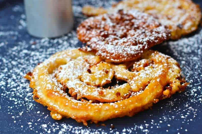 Powdered sugar Sprinkled Carnival Funnel Cake