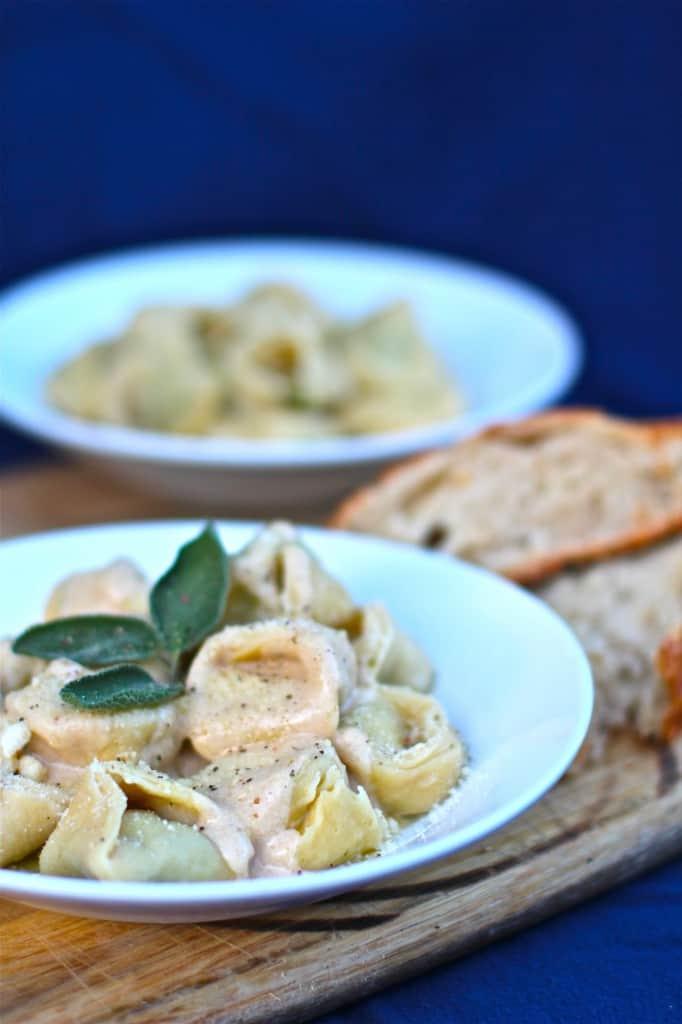 Lemon Mascarpone Browned Butter Tortellini - The Seaside Baker