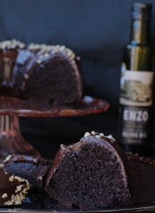 Chocolate Olive Oil Cake with Chocolate Ganache Glaze