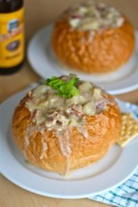 Oregon Clam Chowder in a Fresh Bread Bowl