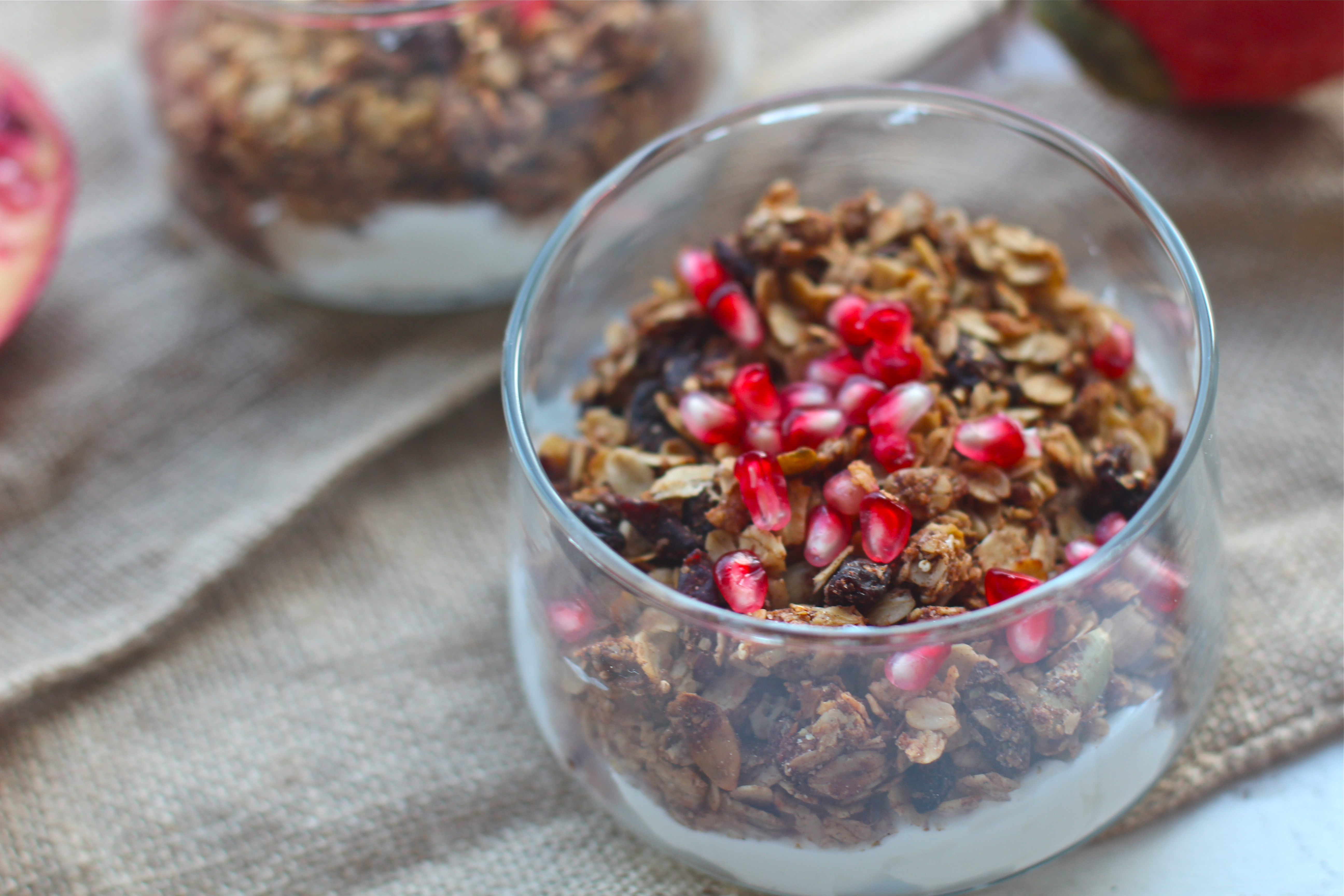 Pumpkin Spice Granola with Dried Cranberries