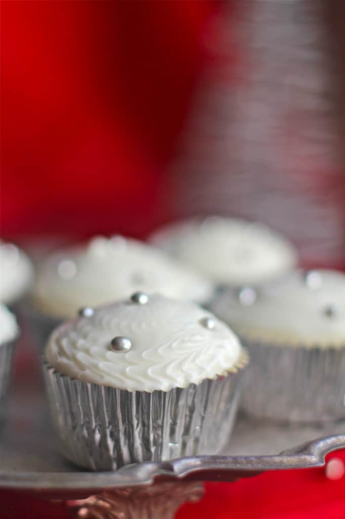 Winter Eggnog Cupcakes With Foil Liners