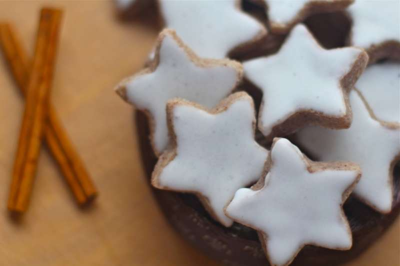 Gluten Free Cinnamon Stars With Frosting