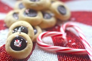 Nutella Peppermint Thumbprints