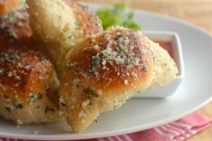 Pizza Balls and Garlic Parmesan Crescents
