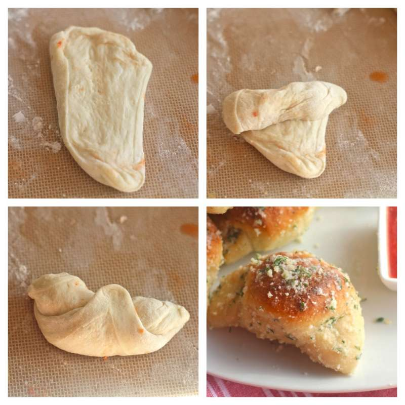 Garlic Parmesan Crescent Steps