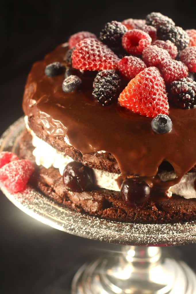 Berry Black Forest Cake With Creme Filling