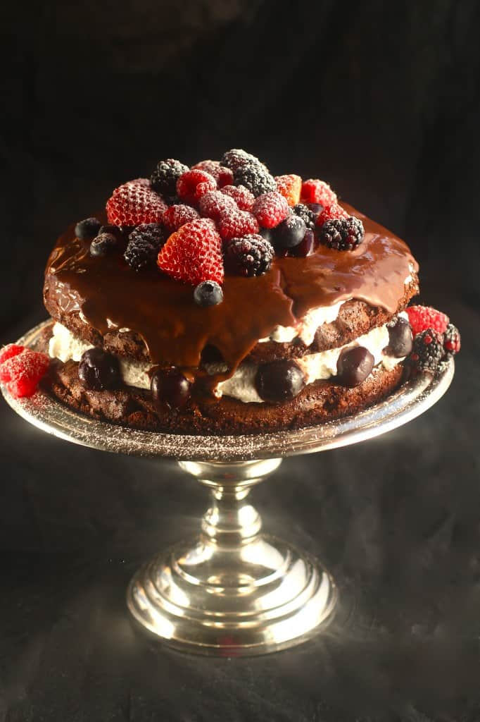 Yummy Berry Black Forest Cake