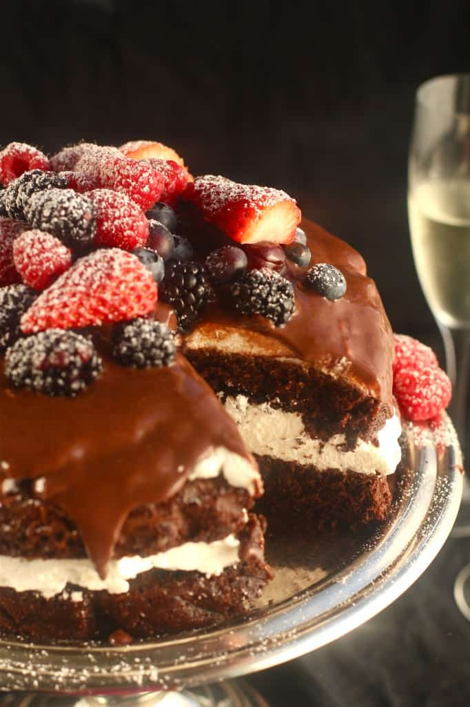 Black Forest Cake With Fresh Fruit