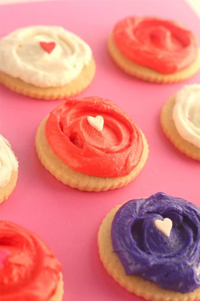 Valentines Day Vanilla Almond Sugar Cookies