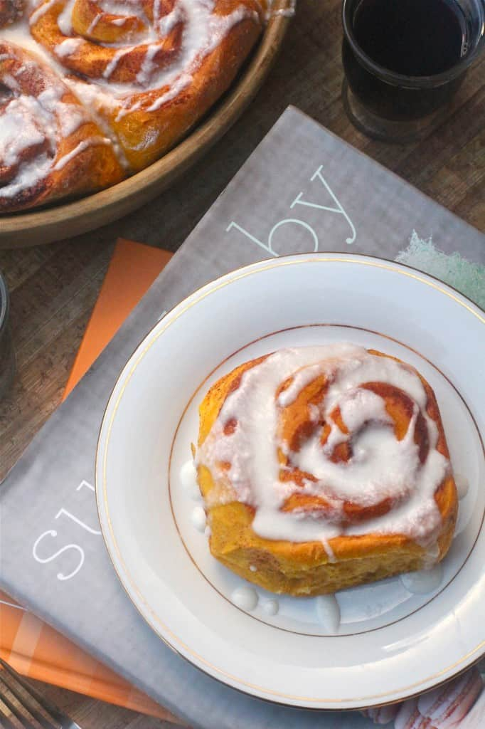 Sweet Potato Cinnamon Rolls With Coffee