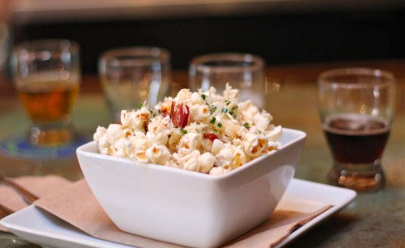 Bacon Parmesan Chive Popcorn For the Whole Family