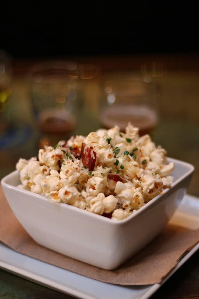 Bacon Parmesan Chive Popcorn