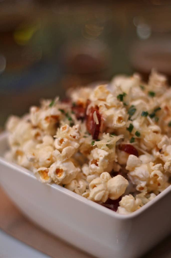 Game Day Bacon Parmesan Chive Popcorn