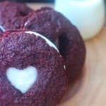 Red Velvet Cake Mix Cookies Sandwiches