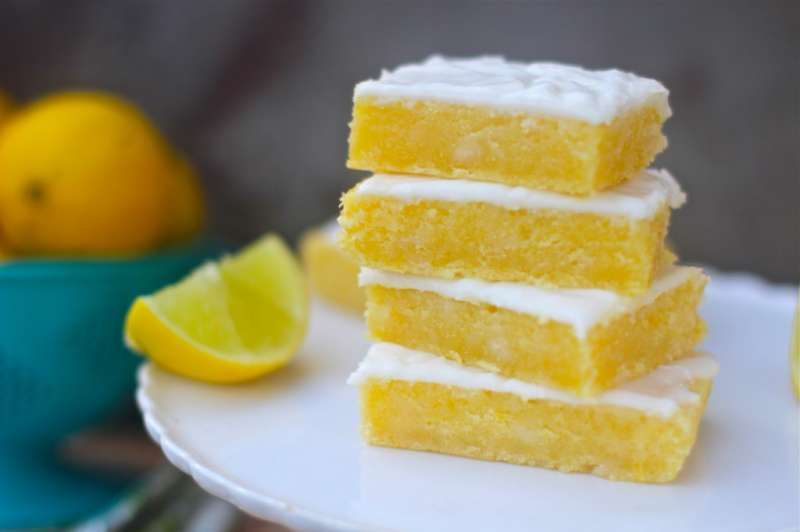 Lemon Brownie with Smooth Cream  Cheese Frosting