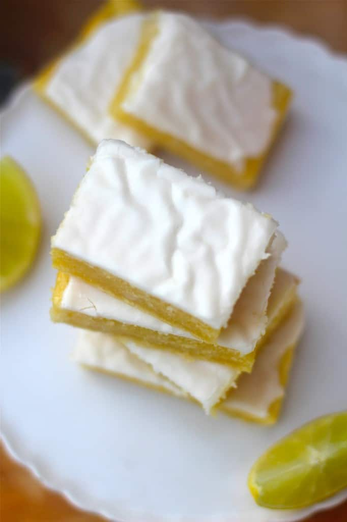 Lemon Brownies with Tart Frosting