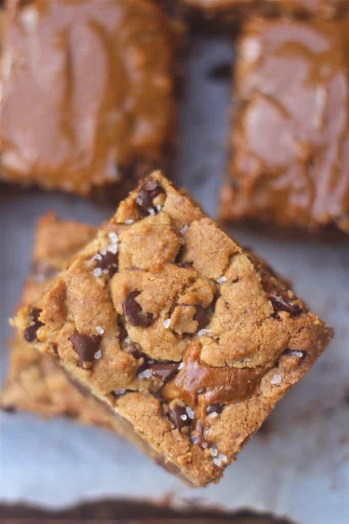 Dulce De Leche Swirled Cookie Bars