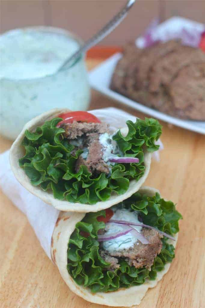 Gyro Sandwiche with Tzatziki Sauce
