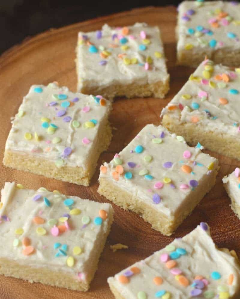 Frosted Vanilla Bean Shortbread Bars - The Seaside Baker