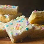 Frosted Vanilla Bean Shortbread Bars