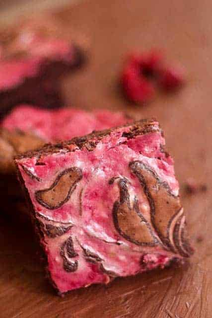 Raspberry Cheesecake Swirled Brownies