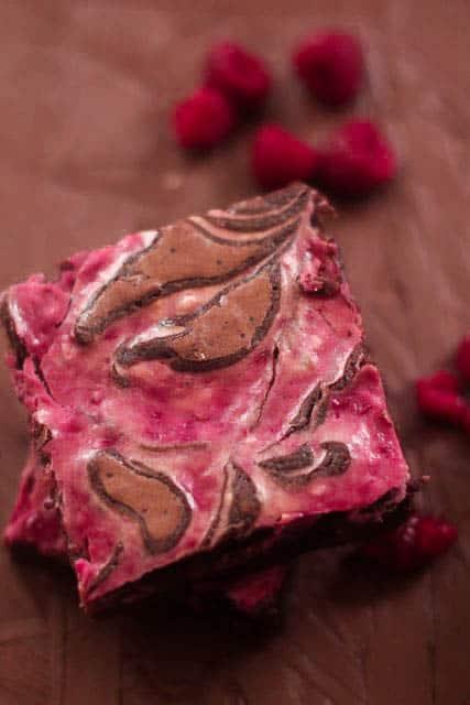 Raspberry Cheesecake Swirled Brownies