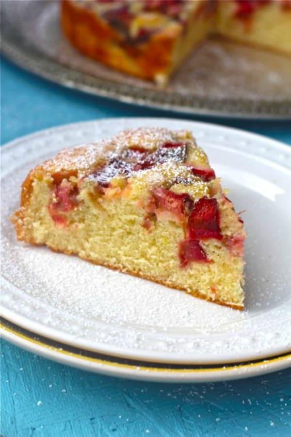 Quick Rhubarb Cake