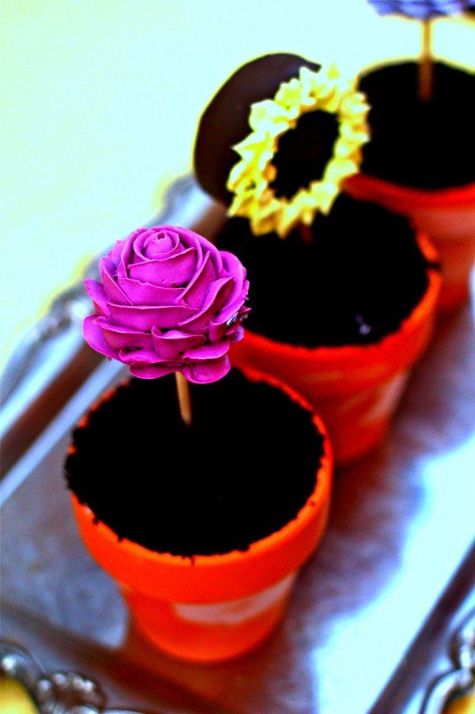 Oreo Ice Cream Flower Pots