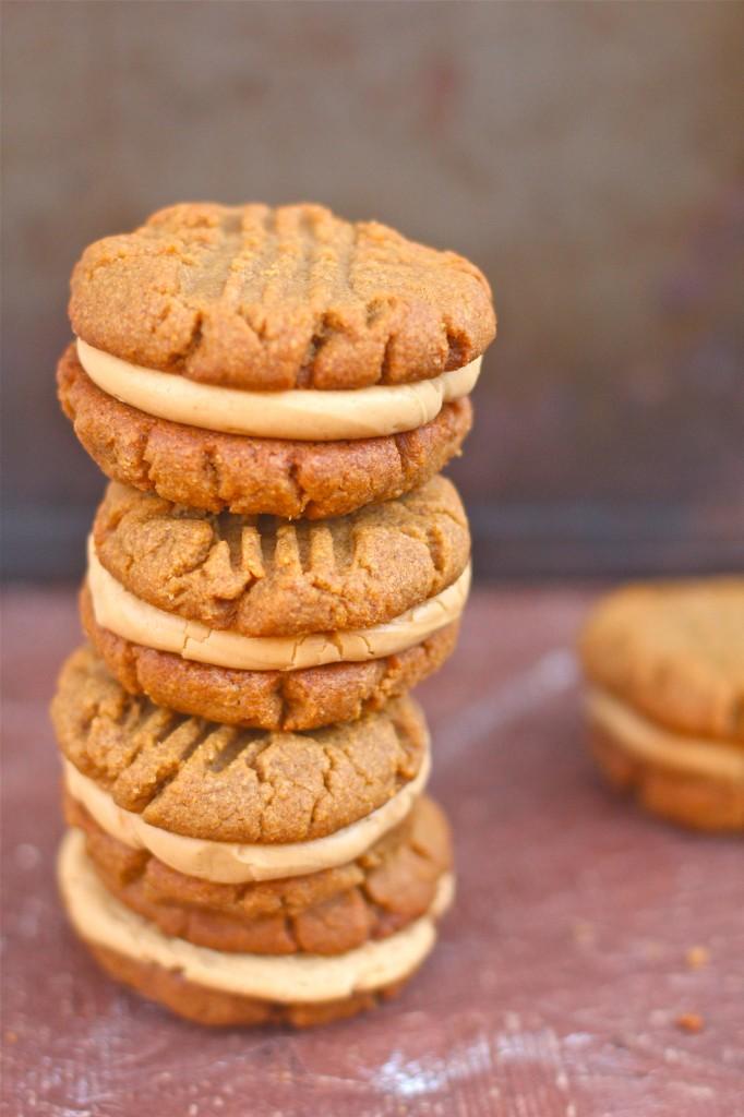 Flourless Peanut Butter Cookie Sandwiches