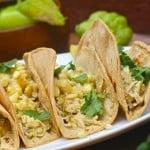 Chicken Verde Tacos