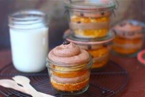 Vanilla Bean Mocha Cupcakes in a Jar