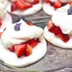 Strawberry Pavlova with Honey Lavender Whipped Cream