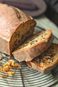 Buttermilk Walnut Bread with Browned Butter Glaze