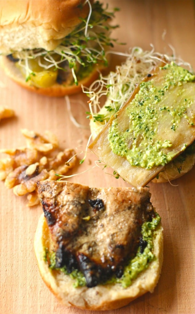Walnut Kale Basil Pesto Sandwich Spread