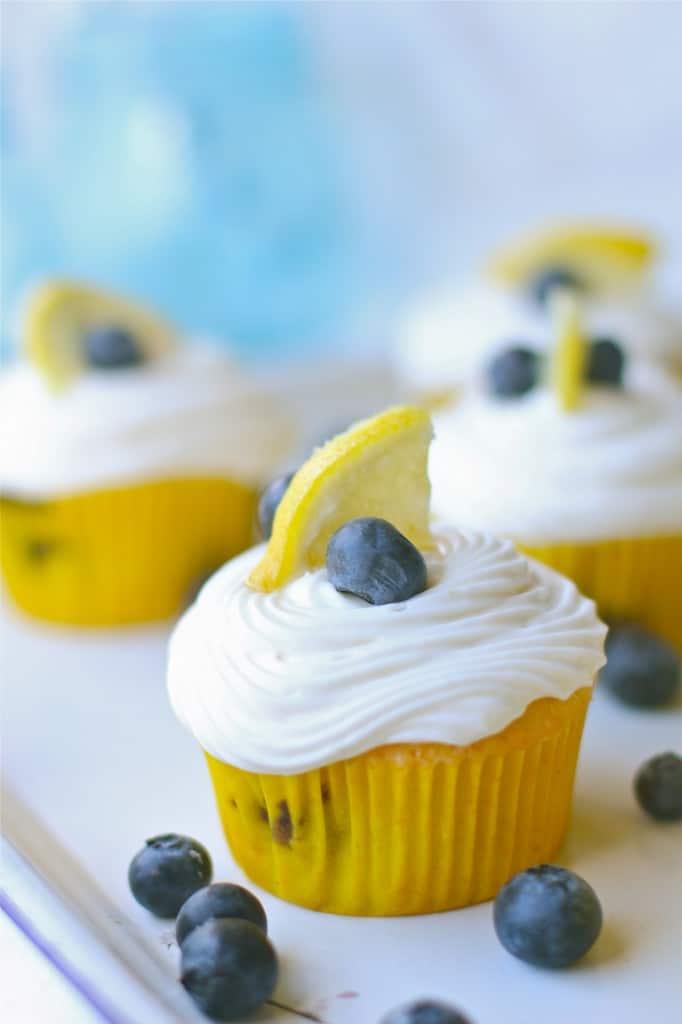 Gluten Free Lemon Blueberry Cupcakes The Seaside Baker