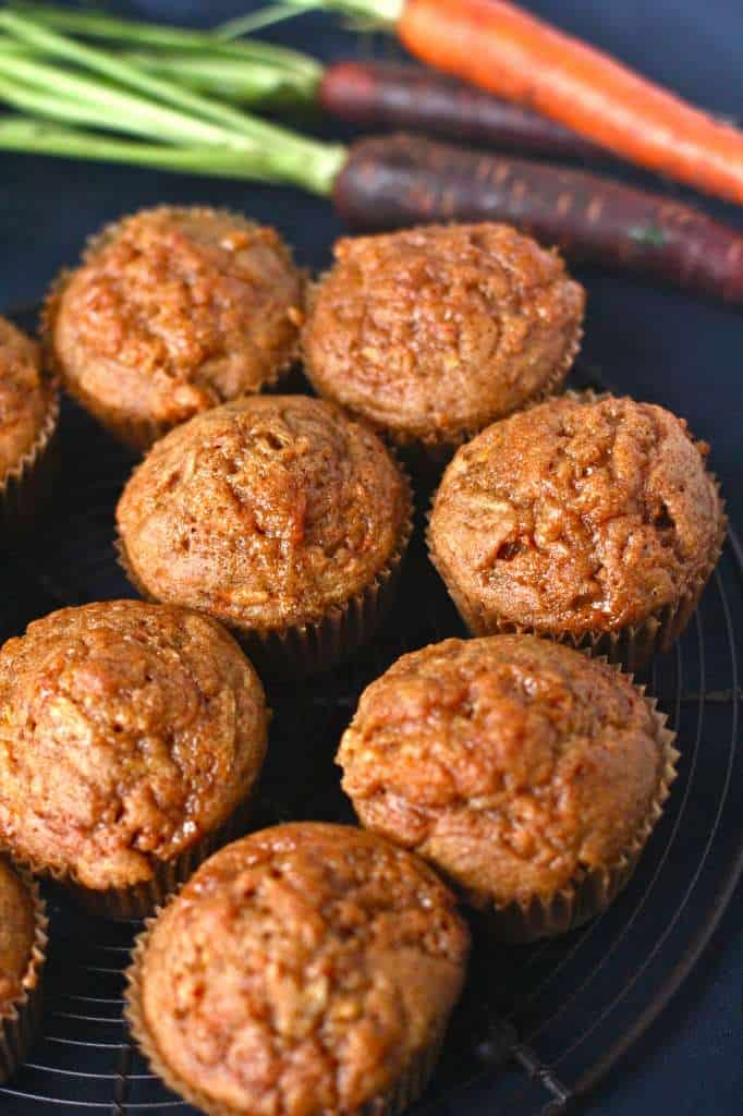 Ginger Cinnamon Carrot Muffins with Dulce de Leche