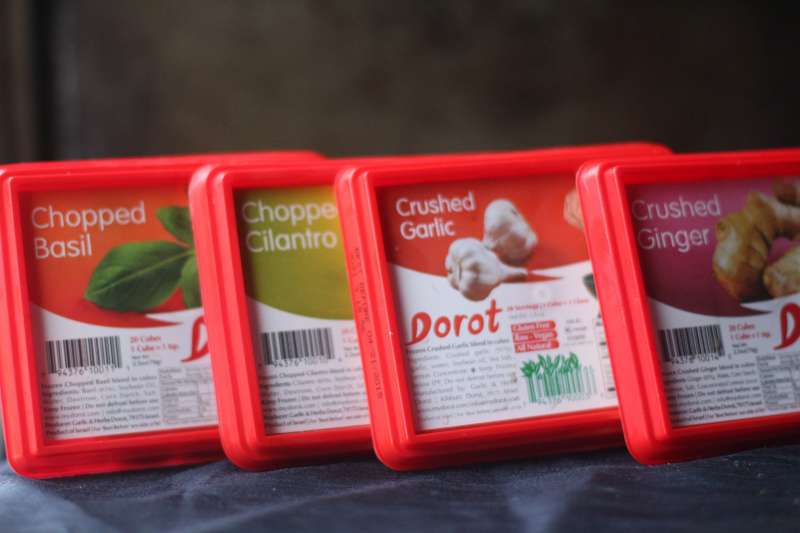 Dorot's frozen garlic and herbes