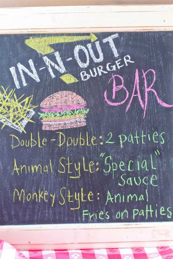 Host an epic summer outdoor In-N-Out Style burger bar complete with Animal Style Sauce. Perfect for the 4th of July and Labor Day